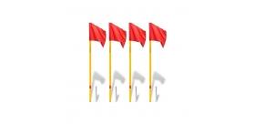 Flagi narożnikowe profesjonalne uchylne