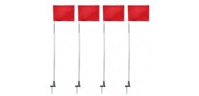 Flagi narożne na sprężynach, uchylne wbijane